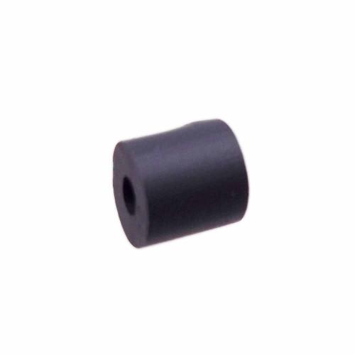 Perline Heishi pasta polimerica | Heishi tubicini neri 6 mm pacco da 50 pezzi - tu79ner