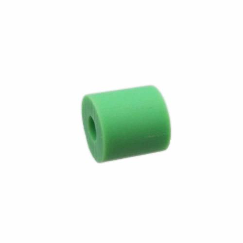 Perline Heishi pasta polimerica | Heishi tubicini verde fluo 6 mm pacco da 50 pezzi - tu79vf