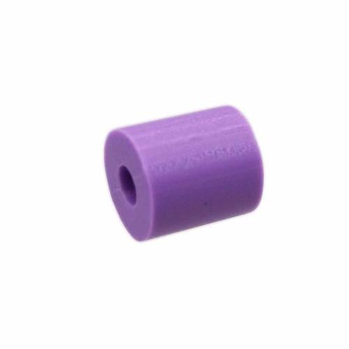 Perline Heishi pasta polimerica | Heishi tubicini viola 6 mm pacco da 50 pezzi - tu79vi1