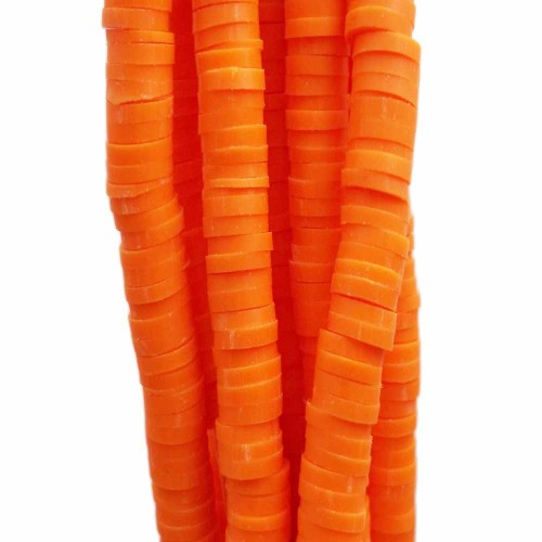 Perline Heishi pasta polimerica | Perline Heishi pasta polimerica arancio 6.4 mm filo 40 cm - he1923