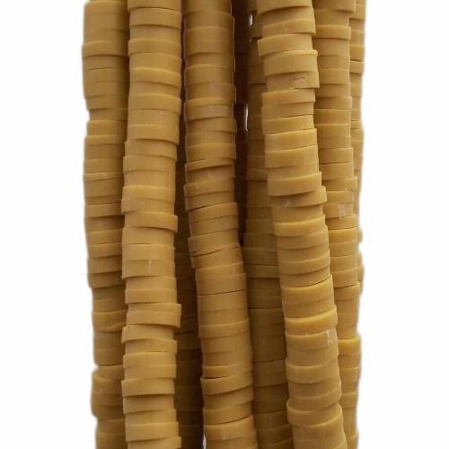 Perline Heishi pasta polimerica | Perline Heishi pasta polimerica oliva 6.4 mm filo 40 cm - he192d