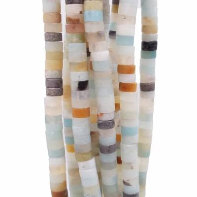 Pietre dure Heishi amazzonite colorata rondelle 4x2.5 mm filo da 40 cm