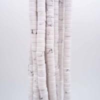 Pietre dure Heishi aulite rondelle 4x2.5 mm filo da 40 cm