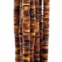 Pietre dure heishi rondelle occhi di tigre 4x2.5 mm filo da 40 cm