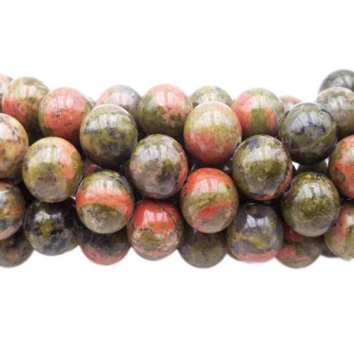 UNAKITE | Unackite tonda liscia 8.7 mm pacco 10 pz - unk1