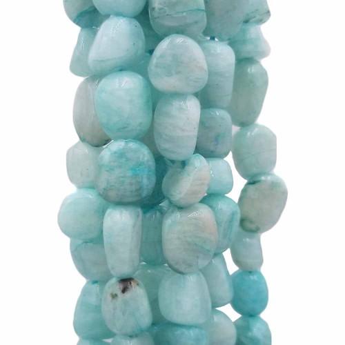 Pepite in pietra dura   Pepite amazzonite 6/10 mm filo da 35 cm - amaz99