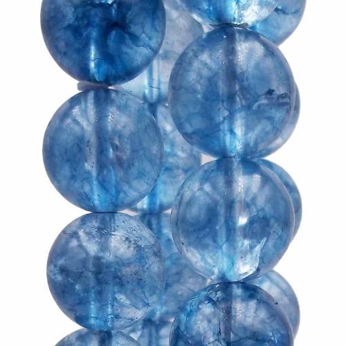 QUARZO | quarzo azzurro 15 mm liscio pacco da 4 pezzi - qq99xc
