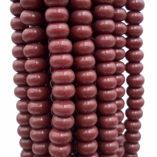 Perline Rondelle in Vetro | Perline rondelle in vetro marroni 8x4.5 mm filo 40 cm - mar559m