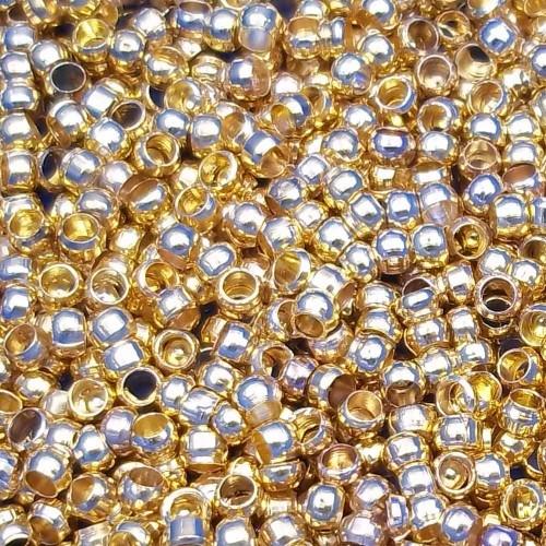 Schiaccini | Schiaccini oro 3 mm pacco 50 pezzi - 7620cq