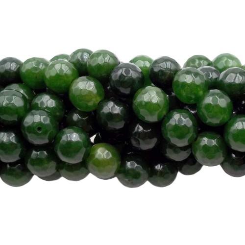 Agata Verde | Agata verde tonda sfaccettata 10 mm pacco 10 pz - agv010
