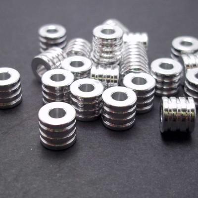 Distanziatore tubicino in alluminio 9x8x5.1 mm 2 pz