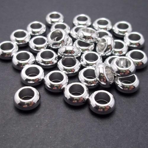 Componenti Alluminio | Distanziatore in alluminio rondella 9x3x5 mm 5 pz - AL04