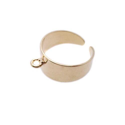Basi Per Anello | Base anello in ottone oro regolabile pacco 1 pz - fc0276