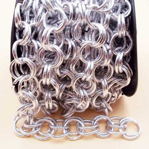 Catene Alluminio | Catena in alluminio doppia maglia tonda 14 mm pacco 50 cm - na17