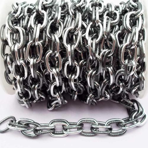 Catene Alluminio | Catena in alluminio maglia doppia ovale 14x9.4 mm pacco 50 cm - na15