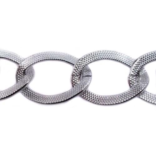Catene Alluminio | Catena alluminio argento 23x17 mm pacco 50 cm - CT0002