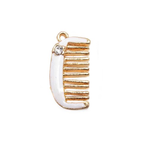 Charms Smaltati | CHARMS PETTINE CON STRASS 18x10 MM 1 PEZZO - Sf0063