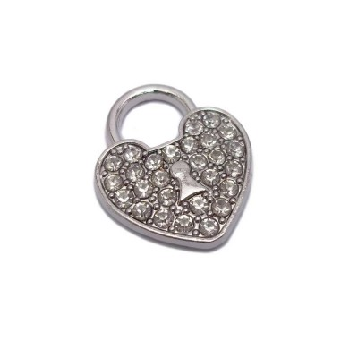 CHARMS CUORE CON STRASS 19X16 MM PACCO 1 PZ