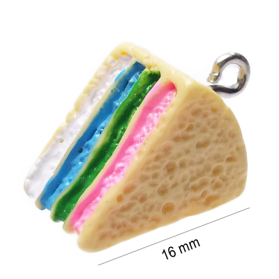CHARMS IN RESINA TORTA PACCO 1 PZ
