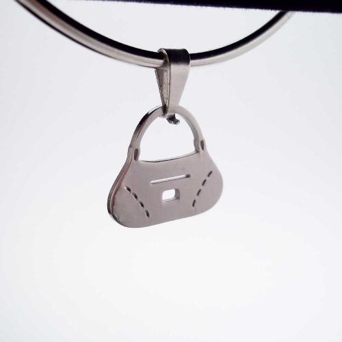 Charms In Acciaio | Charms acciaio 16x14 mm borsetta 1 pezzo - Cz119