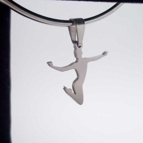Charms In Acciaio | Charms acciaio della felicità 20 mm 1 pezzo - Cz106