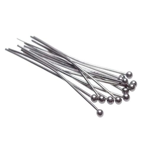 Chiodini In Acciaio Inox | Chiodini a pallina in acciaio 60x06 mm pacco 20 pz - fc0198