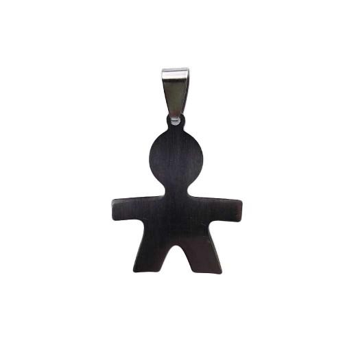 Ciondoli Acciaio Ingrosso | 10 pezzi ciondolo in acciaio bimbo 29x18 mm - Ing0051