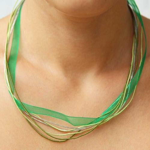 Collane Complete | Collana multi filo verde da 50 cm pacco da 1 pezzo - Tr045