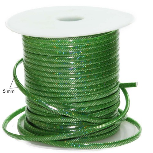 Cordino Piatto Plastificato | CORDINO PIATTO PLASTIFICATO VERDE MULTI COLOR 1MT - FR8672