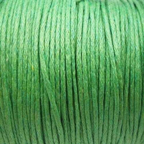 Cordino Cotone Cerato | Cordino cotone cerato verde 1 mm pacco circa 30 mt - ccc03