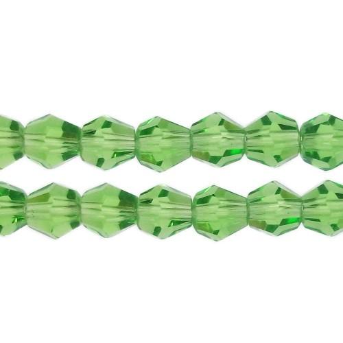 Cristalli Bicono | CRISTALLI BICONO 4 MM VERDI FILO 40 CM - fb0575