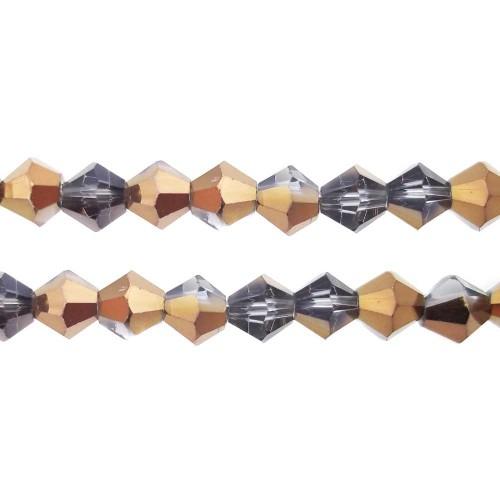 Cristalli Bicono | CRISTALLI BICONO DOPPIO COLORE 4 MM - Cr0108