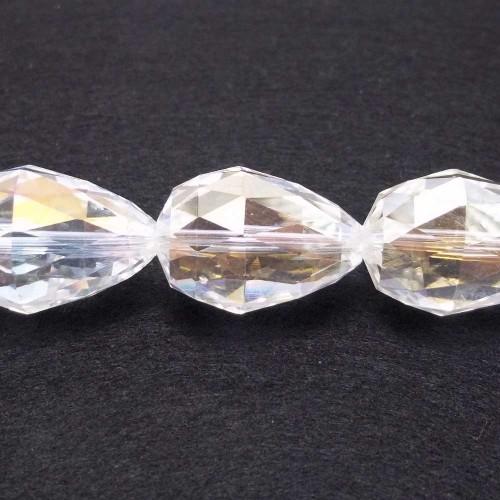 Cristalli Gocce Grandi | CRISTALLI GOCCE BIANCHE 27x18 MM PACCO 1 PZ - Go4005