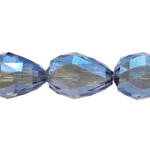 Cristalli Gocce Grandi | CRISTALLI GOCCE BLU RIFLESSI GIALLI 27x18 MM PACCO 1 PZ - Go4007