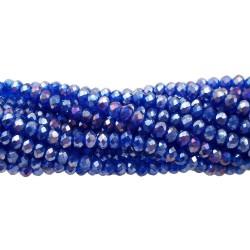 Cristalli rondella blu notte A/B 3x2 mm filo 43 cm