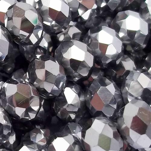 Cristalli Rondelle 7-8 mm | Cristalli rondella argento 8X6 mm filo 45 cm - crsN1P