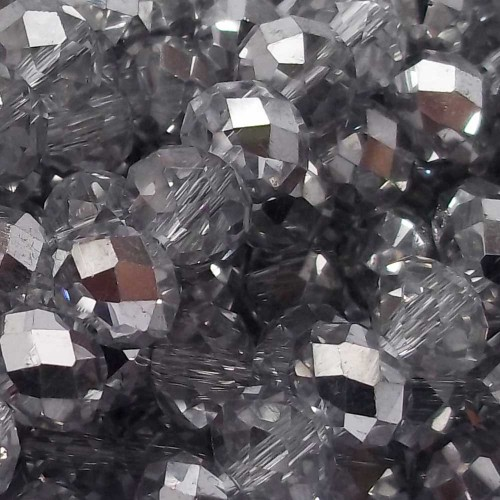 Cristalli Rondelle 7-8 mm | Cristalli rondella argento A/B 8X6 mm filo 45 cm - crsN11