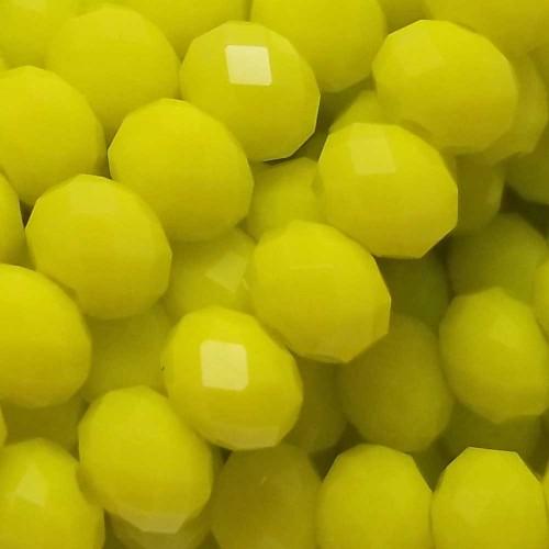 Cristalli Rondelle 6 mm | Cristalli rondella gialli 5,8x4,5 mm filo 45 cm - crsp1