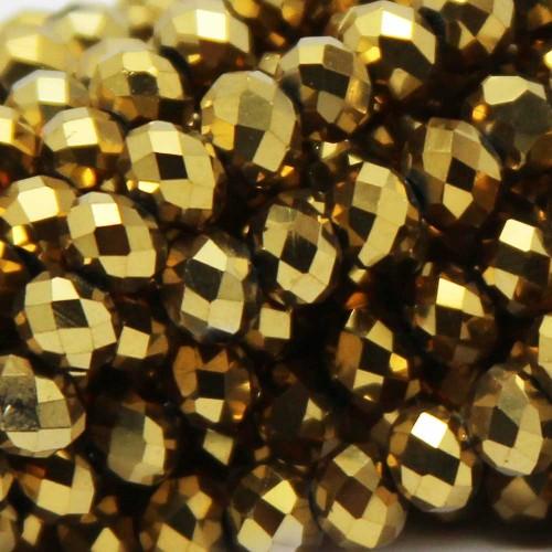 Cristalli Rondelle 7-8 mm | Cristalli rondella oro 7,5x6 mm filo 45 cm - crs9978v