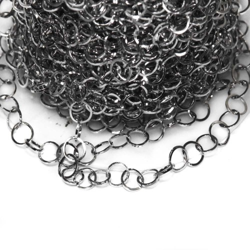 Catene In Acciaio | Catena in acciaio maglia tonda 5 mm pacco 50 cm - fb9359