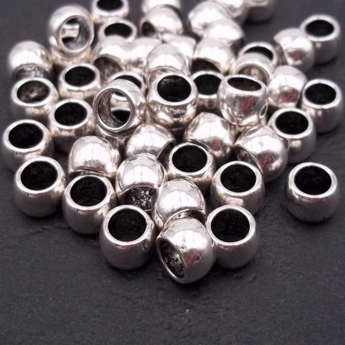 Distanziatori In Argento Tibetano | Rondella 7x5 mm foro 4,8 mm pacco 20 pezzi - rr1