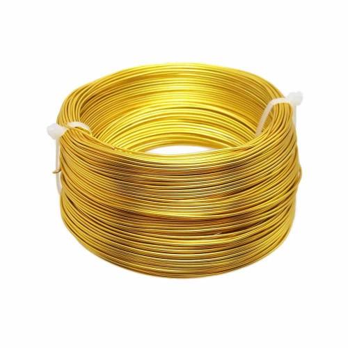 Filo Alluminio | Filo in alluminio 2 mm oro pacco 2 metri - all22mm