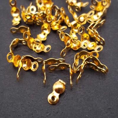 Copri nodo 7x4 mm oro pacco 100 pezzi