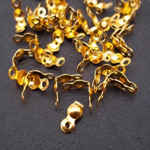 Coprinodo | Copri nodo 7x4 mm oro pacco 100 pezzi - fna2213