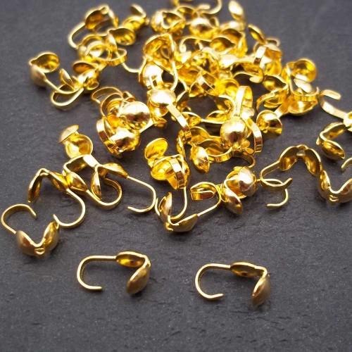 Coprinodo | Copri nodo 8x4 mm oro pacco 100 pezzi - fna223