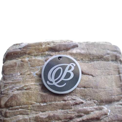 Materiale Per Bigiotteria Offerte | 10 pezzi charms lettera B tonda - Ciovz