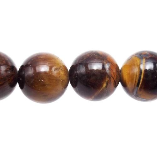 Materiale Per Bigiotteria Offerte | Occhio di tigre sfera liscia 12,5 mm pacco 4 pezzi - Pk1557