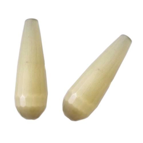 Gocce Pietre Dure | Gocce occhio di gatto giallo canarino grado AAAA 30 mm 1 pz - occg05