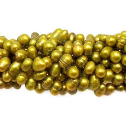 Perle Di Fiume | PERLE OVALI IRREGOLARI 6/8 MM FILO 40 CM - FR9140