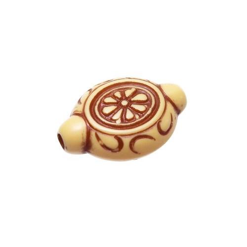 Perline In legno | PERLE DECORATE 14x10 MM PACCO 10 PEZZI - Fc0297